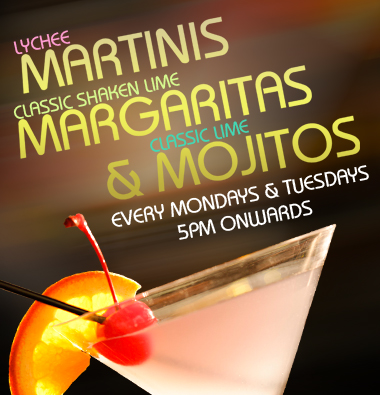 Martinis, Margaritas, Mojitos