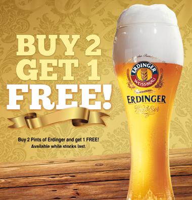 Erdinger – Buy 2 Get 1 Free